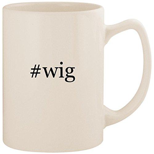 #wig - White Hashtag 14oz Ceramic Statesman Coffee Mug Cup ()