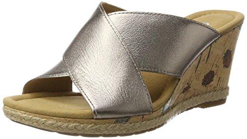 Gabor Shoes Comfort, Sandales Bout Ouvert Femme Marron (Mutarokorkfl/Jute)