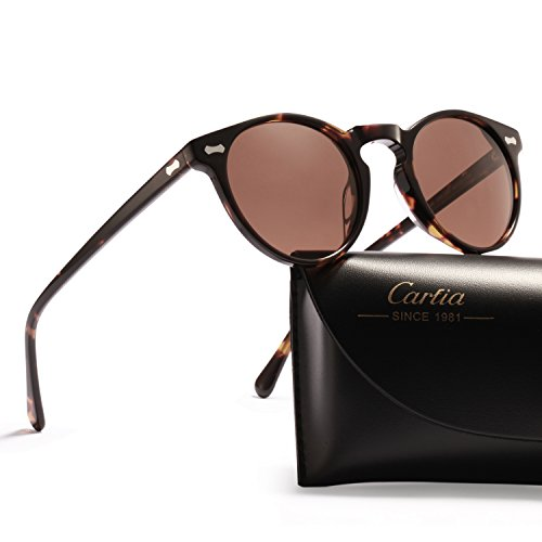 Vintage Round Sunglasses - Carfia Retro Polarized Sunglasses for Women Men, 100% UV400 - Best Sunglasses