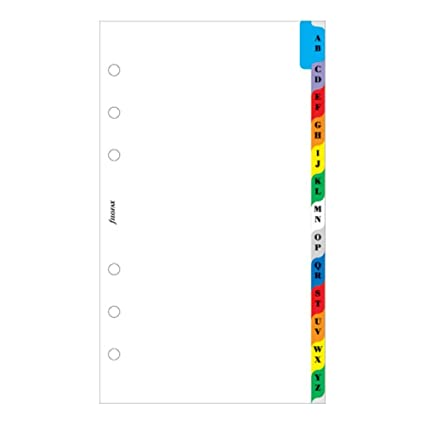 FILOFAX AZ 2 Letter Colored Index for Personal & Personal Compact Organizers (B131608)