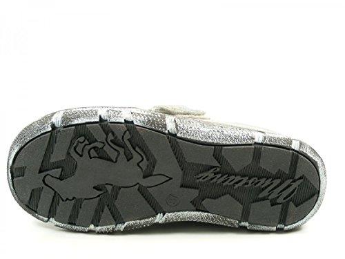 Mustang 1110-703 Zuecos fashion de cuero mujer Silber