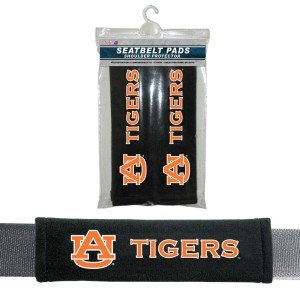 NCAA Auburn Tigers Velour Seat Belt, One Size, - Outlet Auburn Stores