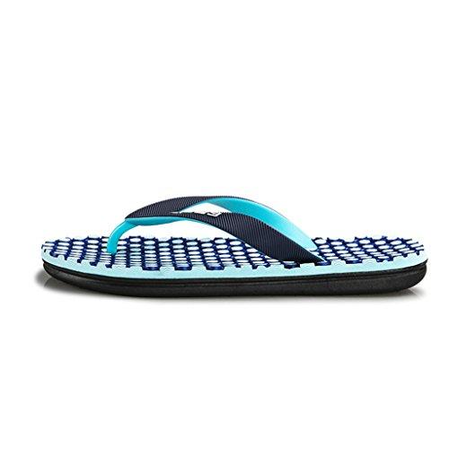 Masaje Chancletas Hombres blue Slippers Zapatillas prape pwqHnxgCf5