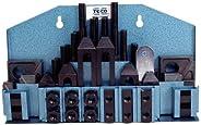 "TE-CO 20402 Machinist Clamp Kit, 5/8"" Table T-Slot x 1/2-13"" Stud,"