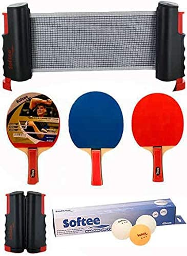 Softee Equipment Super Set Ping Pong Negro/Blanco