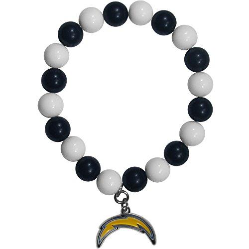 (NFL San Diego Chargers Fan Bead Bracelet)