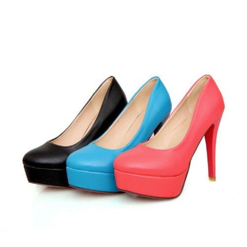 Gloednieuwe Mode Dames Platform Pump Hoge Hakken Schoenen Rood