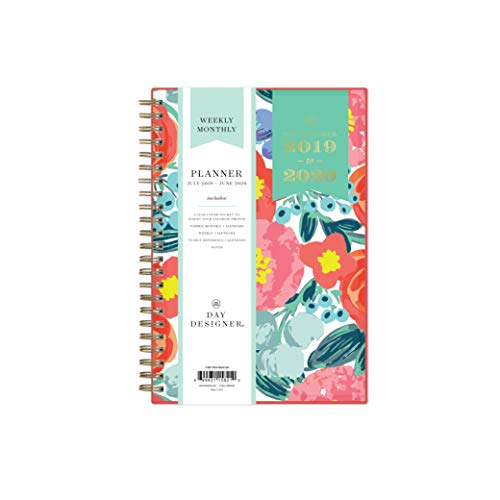 (Day Designer for Blue Sky 2019-2020 Academic Year Weekly & Monthly Planner, Flexible Cover, Twin-Wire Binding, 5