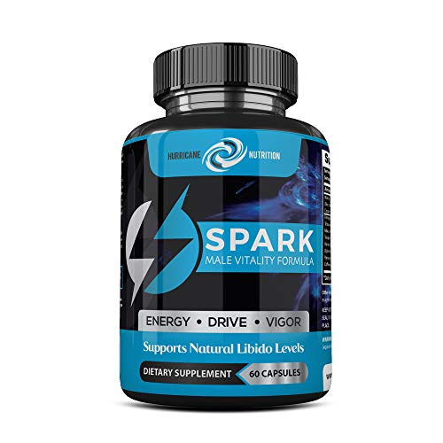 Hurricane Nutrition's Spark | 60 Capsules | Proven Ingredients for Mens Performance Enhancement with Fenugreek Maca Caffeine Horny Goat Weed for More Energy and Libido Support (Male Pill Enhancement Performance)