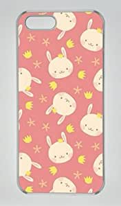Cute Rabbit Pattern Iphone 5 5S Hard Shell with Transparent Edges Cover Case by Lilyshouse