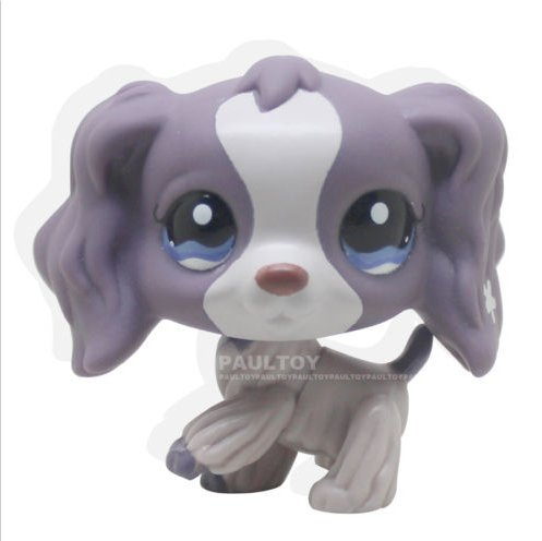 Pet Shops Rare Littlest Purple Cocker Spaniel Dog Puppy Blue Eyes LPS #1209 Toy -