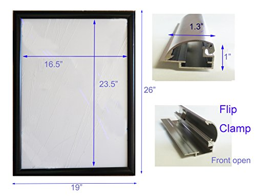 TheDisplayDeal LED Illuminated Backlit Poster Frame, Graphic Szie 19x26
