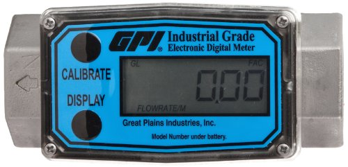 FLOMEC G2S10N09GMA, G2 Stainless Steel Turbine Flowmeter 1-Inch FNPT, 5-50 GPM FNPT, +/-1.0 Percent Accuracy by FLOMEC