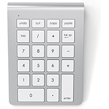 Satechi Aluminum Bluetooth Wireless Keypad Number Pad Keyboard for iMac  MacBook Laptop Desktop PC Computer Compatible with Windows & OS X System