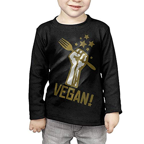 Price comparison product image Fryhyu8 Toddler Kids Vegan Printed Long Sleeve 100% Cotton Infants T-Shirts