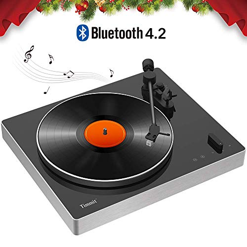 Bluetooth Turntable for Vinyl Records,USB Belt-Drive Vinyl Player with Hi-Fi Stereo Speaker,Supports Vinyl-to-MP3 Recording,RCA Output,Anti-Skating