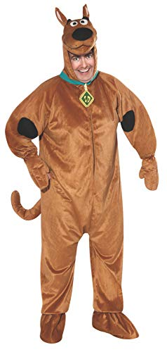 Scooby-Doo Deluxe Adult Costume, SCOOBY, One