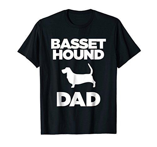 Basset Hound Dad Dog Lover Silhouette T-Shirt