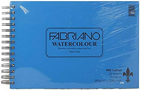 RKB Fat Pad Fabriano Watercolour 19 x 28cm 25 sheets 280gsm Not