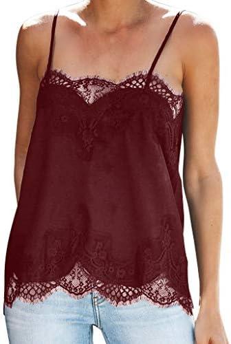 [해외]Fashion Women Strappy Vest Tops Sleeveless Lace Patchwork Blouse Casual Tank / Fashion Women Strappy Vest Tops Sleeveless Lace Patchwork Blouse Casual Tank