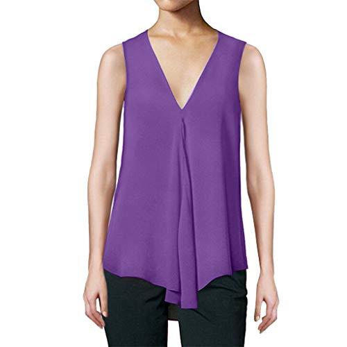 YEZIJIN Womens Fashion Short Sleeve Embroidery Print Short Sleeve Summer Top Tank 2019 Under 10 Dollars Purple]()