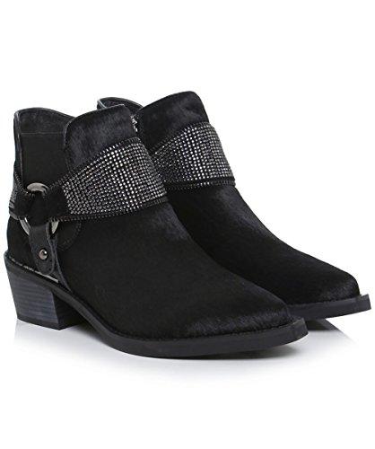 Alma diamante Pena botas Mujeres Negro de de en Negro Estribo montar 7q75wX4r