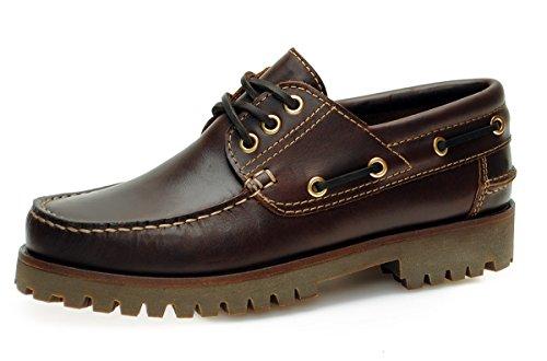 Jim Boomba Boat Shoe - Deck Shoe - Mahogany Brown - Deep Sole fIXRxH6p6