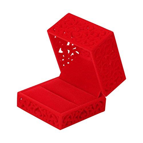 Velvet Red Ring (I-MART Velvet Jewelry Box for ring engagement gift wedding favor (Red))