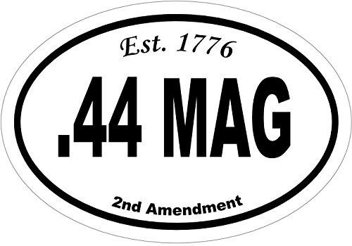 Oval 44 Mag Est.1776 Vinyl Decal - Gun Bumper Sticker - Handgun Caliber 2nd Amendment - Handgun Caliber