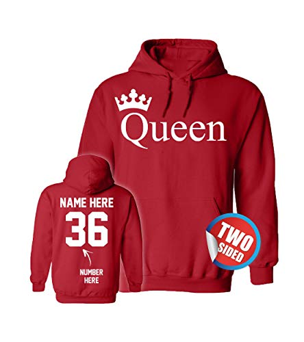 Name Valentine Sweatshirt (Customized Ville Queen Hoodie - Matching Couple Sweaters Valentines Sweatshirts for Couples)