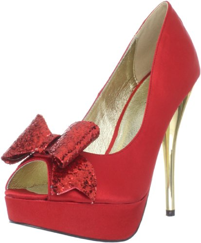 Luichiny Women's Kissy Kiss, Red, 7.5 M US