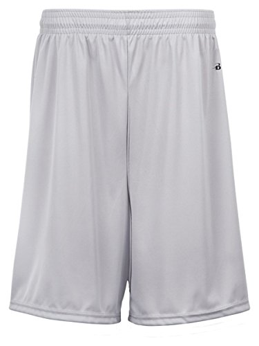 - Badger Youth 6 B-Dry Core Shorts (2107) -SILVER -XL