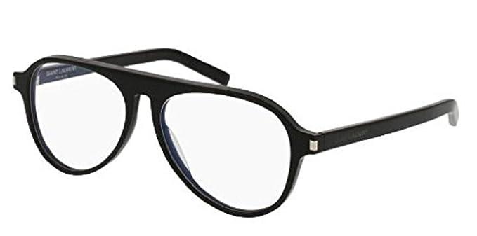 fdafa1e5ea0 Image Unavailable. Image not available for. Color  Saint Laurent SL 159 001  BLACK BLACK Eyeglasses