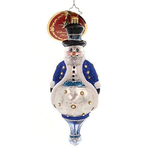 Christopher Radko Adorned Gentlemen Glass Christmas Jewels 6010167 Snowman (Jewels Snowman Christmas)