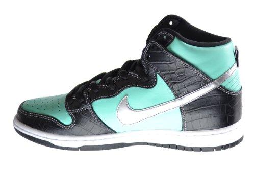 Nike Dunk Høy Premie Sb Diamant Forsyning Co. Menns Basketball Sko Aqua / Krom-svart 653599-400