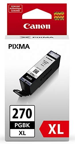Canon PGI-270 XL Pigment Black Ink for TS9020 Printers, TS8020 Printers, TS6020 Printers, TS5020 Printers, MG7720,MG6820,MG6821,MG6822,MG5720,MG5722,MG5721