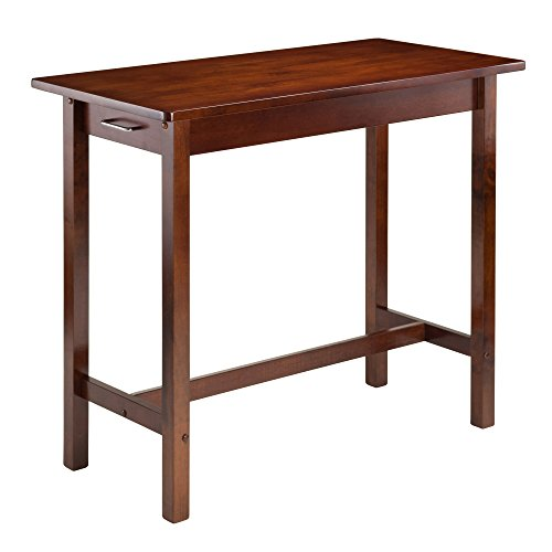 Winsome Wood Antique Walnut Kitchen Island with Two Drawers - Antique Kitchen Islands