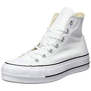 Converse Ctas Lift Hi Black/White, Sneaker a Collo Alto Unisex – Adulto