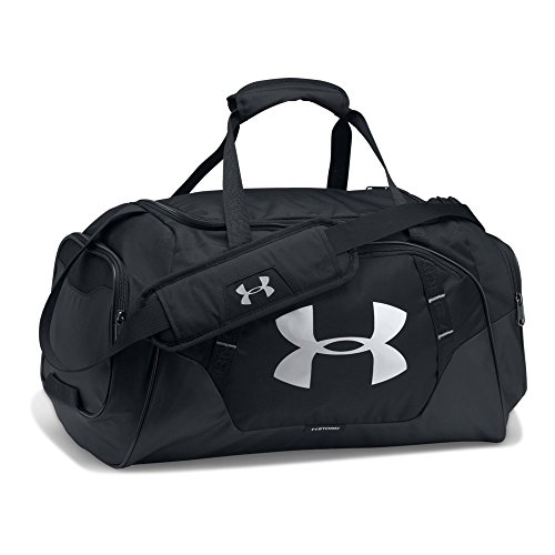 Under Armour Undeniable 3.0 Small Duffle Bag,Black (001)/Silver, One Size (Bag Shoulder Storm)