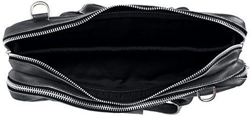 Royal Big Zip Republiq Noir à sac main Black Bag Leather Nano txrxwqA