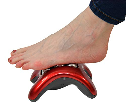 HOME-X Foot Massager, Kneading Roller Tool, Vibrating Self-Massage for Sore Feet