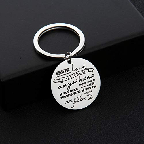 AKTAP Gilmore Girls Gifts Mother Daughter Keychain Where You Lead I Will Follow (Follow You Keychain) by AKTAP (Image #1)