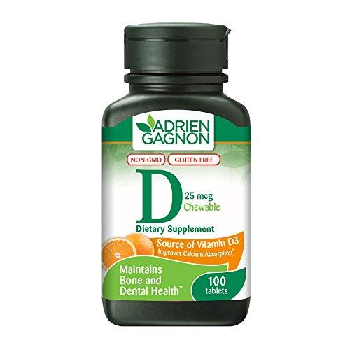 Cheap Adrien Gagnon – Vitamin D 1000 IU, Bone & Dental Health, Natural Orange Flavor, 100 Chewable Tablets