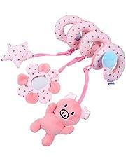 Toddmomy Bilstol leksak baby raser leksak djur spjälsäng leksak bilstol barnvagn leksak säng spiral leksak för nyfödda spädbarn pojkar och flickor
