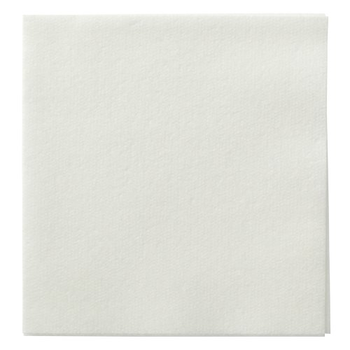 "Hoffmaster 046115 Linen-Like Beverage Napkin, Unembossed, 1/4 Fold, 10"" Length x 10"" Width, White (Case of 1000)"