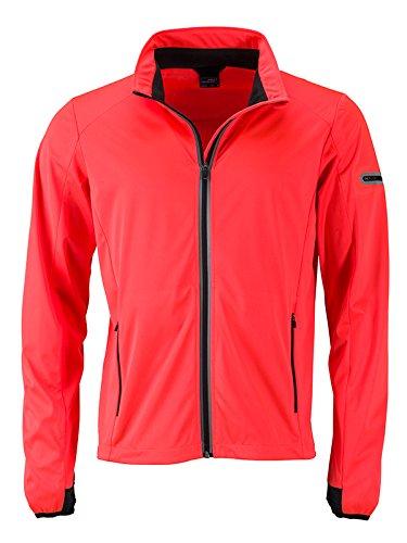 James & Nicholson Men's Sports Softshell Jacket, Cappotto Uomo