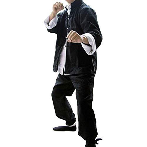 ZooBoo Mens Bruce Lee Classic Kung Fu Martial Arts Uniforms Set of 3 -