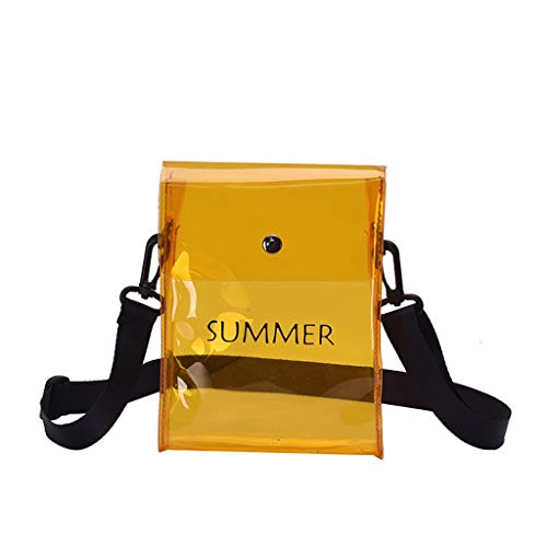 Crossbody Bags for Girls Stylish Versatile Clear Backpack Wallets Totes Shoulder Bags Makeup Bag Travel Backpack Yellow