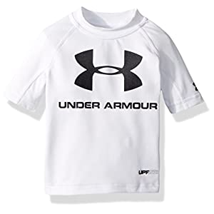 Best Epic Trends 41wYqM8Cq6L._SS300_ Under Armour Boys' Baby Ua Comp Short Sleeve T-Shirt Rashguard, White, 24M