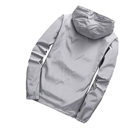 Pure Oversized Color Jacket Hooded Sankt Coat Mens Gray Outwear Sportswear BxXfRxwq